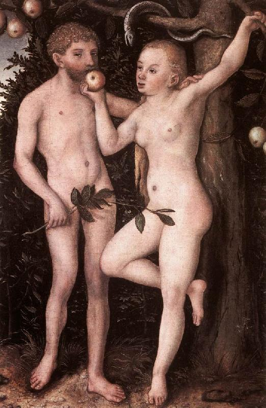 CRANACH, Lucas the Elder Adam and Eve 05 Sweden oil painting art