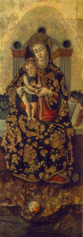 CRIVELLI, Vittorio Madonna with the Child rg oil painting image