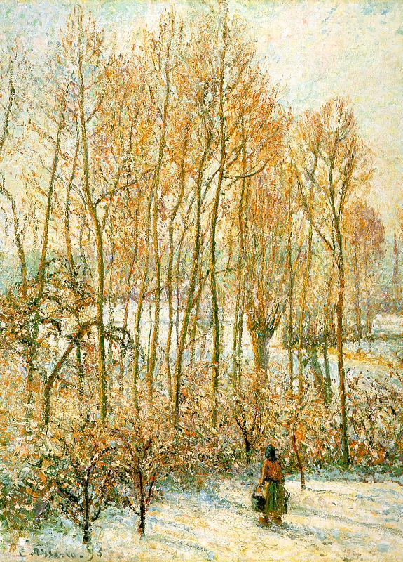 Camille Pissaro Morning Sunlight on the Snow, Eragny sur Epte Sweden oil painting art