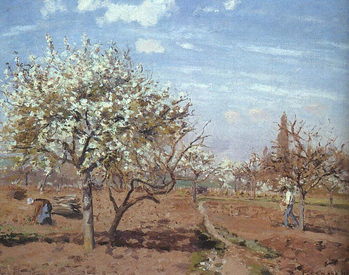 Camille Pissaro Orchard in Bloom at Louveciennes oil painting image