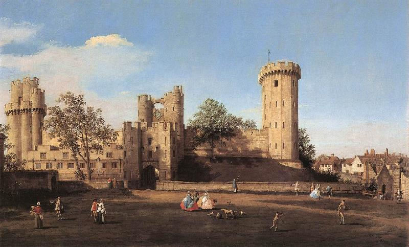 Canaletto Warwick Castle: the East Front df Sweden oil painting art