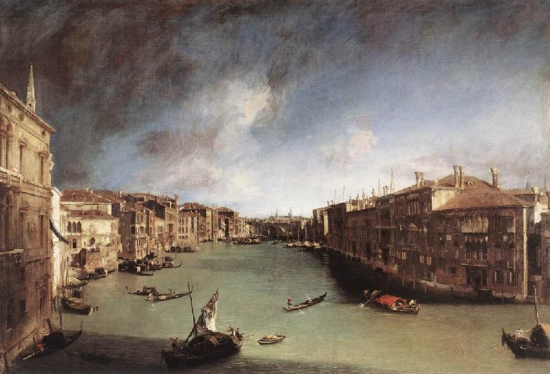 Canaletto Grand Canal, Looking Northeast from Palazo Balbi toward the Rialto Bridge Sweden oil painting art