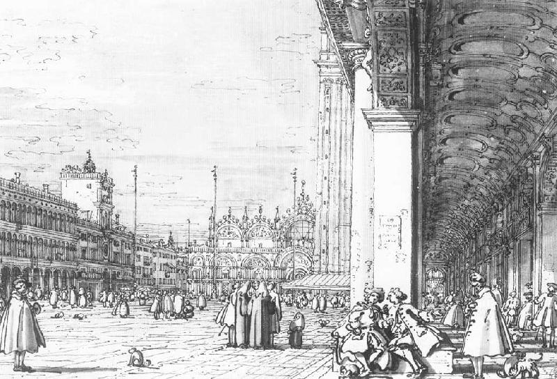 Canaletto Piazza San Marco: Looking East from the South West Corner  dfd Sweden oil painting art
