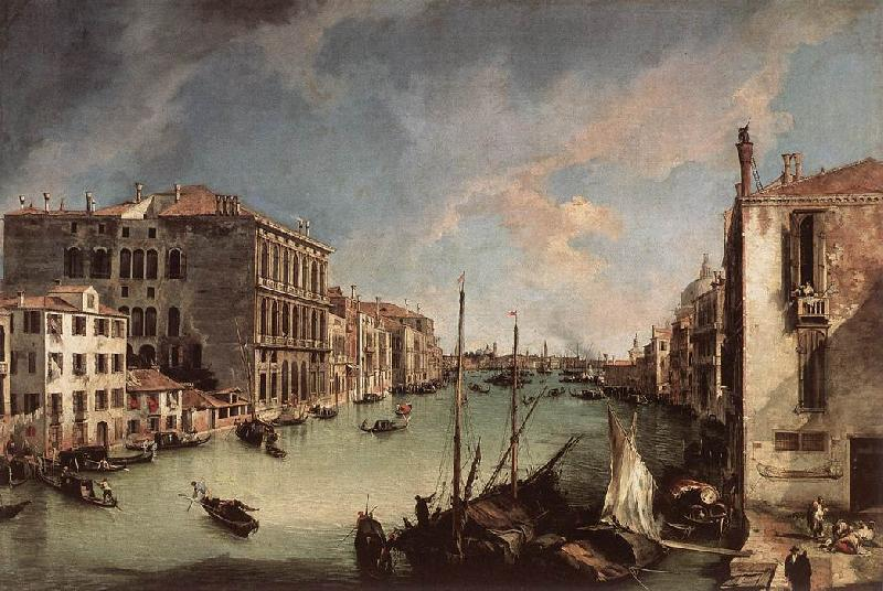 Canaletto Grand Canal, Looking East from the Campo San Vio Sweden oil painting art