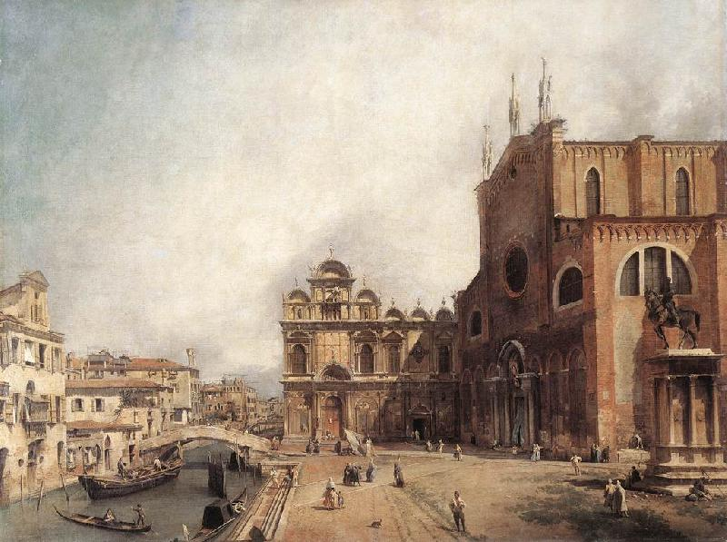 Canaletto Santi Giovanni e Paolo and the Scuola di San Marco fdg Sweden oil painting art