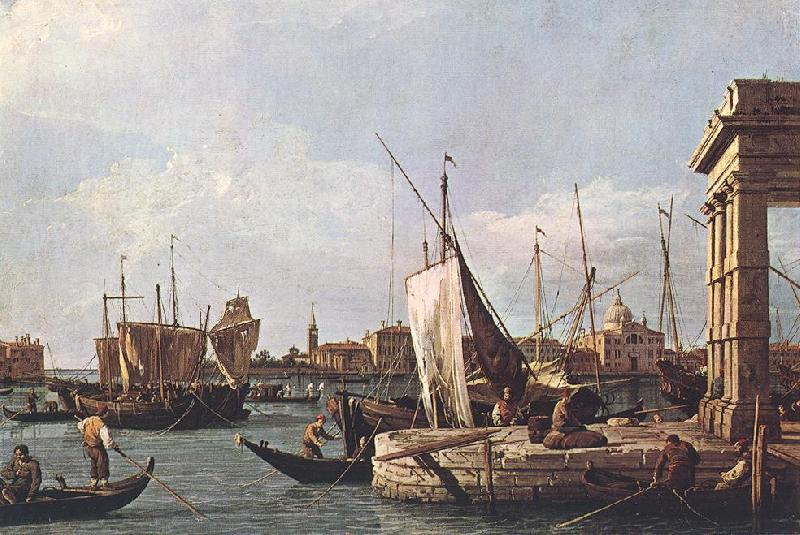 Canaletto La Punta della Dogana (Custom Point) dfg oil painting image