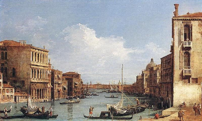 Canaletto The Grand Canal from Campo S. Vio towards the Bacino fdg Sweden oil painting art