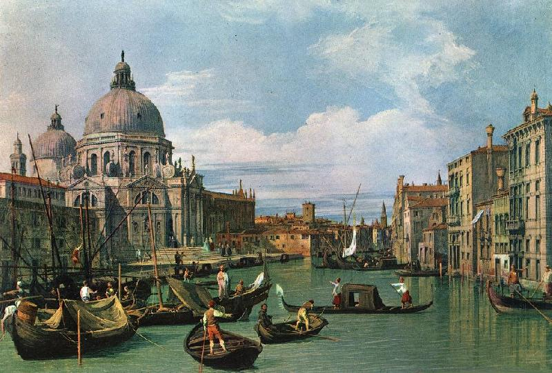 Canaletto The Grand Canal and the Church of the Salute df Sweden oil painting art