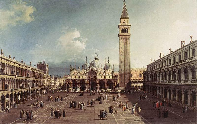 Canaletto Piazza San Marco with the Basilica fg oil painting image