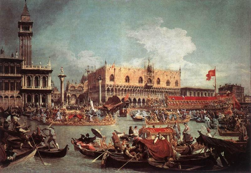 Canaletto The Bucintoro Returning to the Molo on Ascension Day fg Sweden oil painting art
