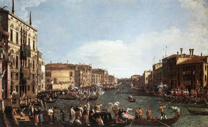 Canaletto A Regatta on the Grand Canal d Sweden oil painting art