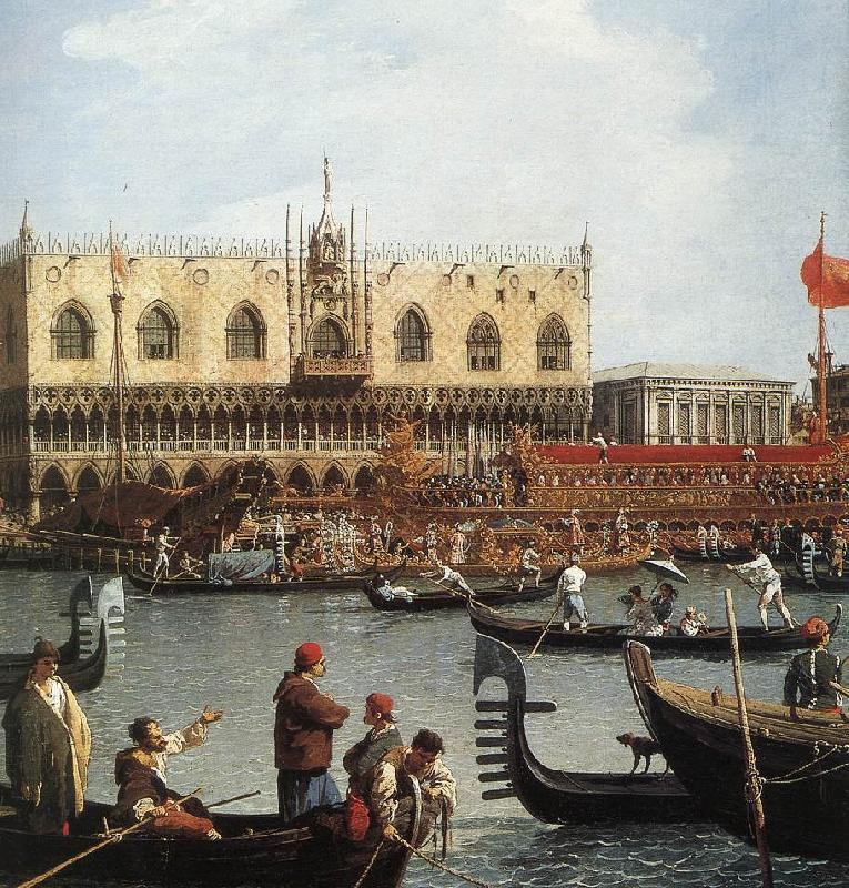 Canaletto Return of the Bucentoro to the Molo on Ascension Day (detail) d Sweden oil painting art