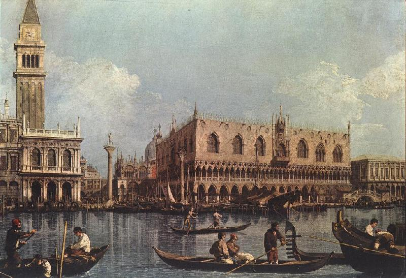 Canaletto View of the Bacino di San Marco (St Mark s Basin) Sweden oil painting art