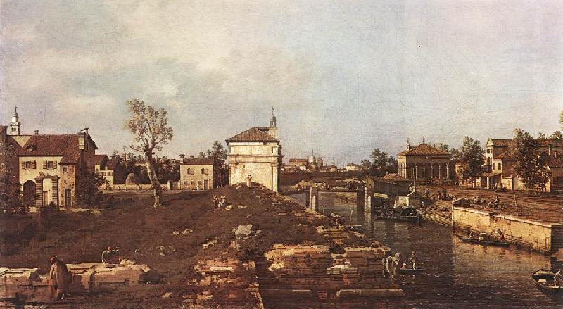 Canaletto The Brenta Canal at Padua dsf Sweden oil painting art