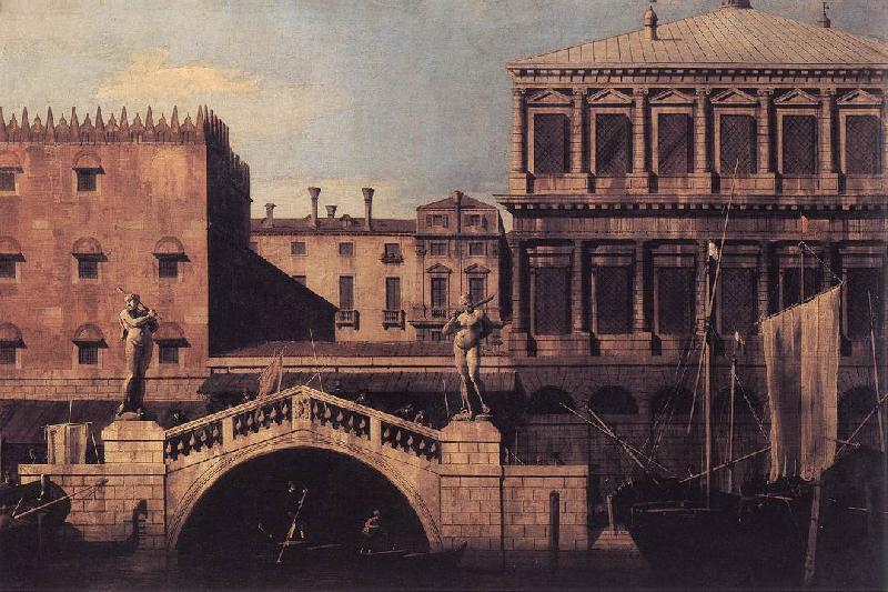 Canaletto Capriccio: The Ponte della Pescaria and Buildings on the Quay d Sweden oil painting art