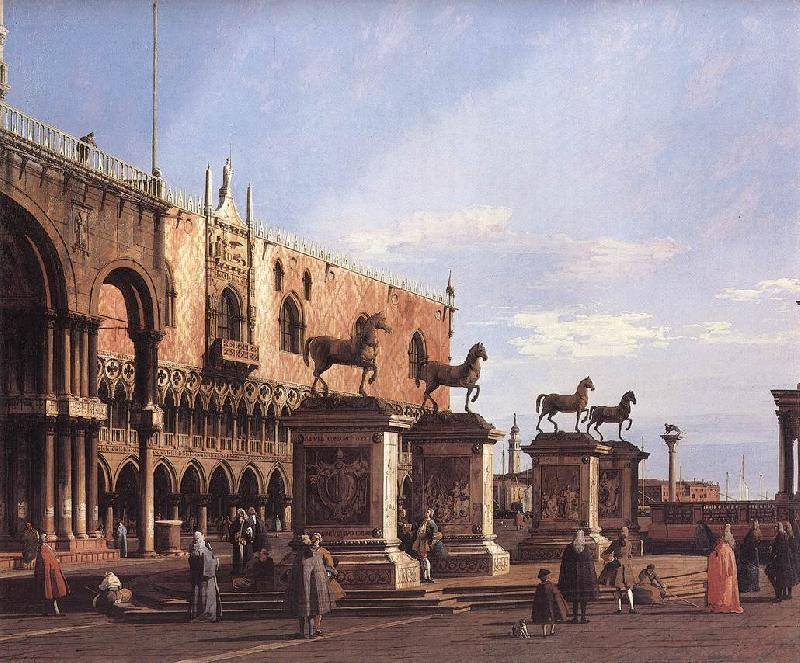 Canaletto Capriccio: The Horses of San Marco in the Piazzetta Sweden oil painting art