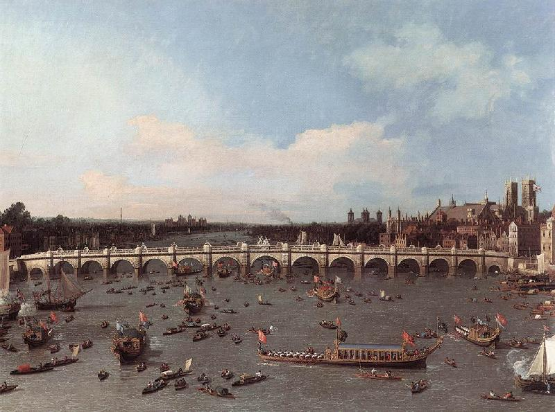 Canaletto London: Westminster Bridge from the North on Lord Mayor s Day Sweden oil painting art