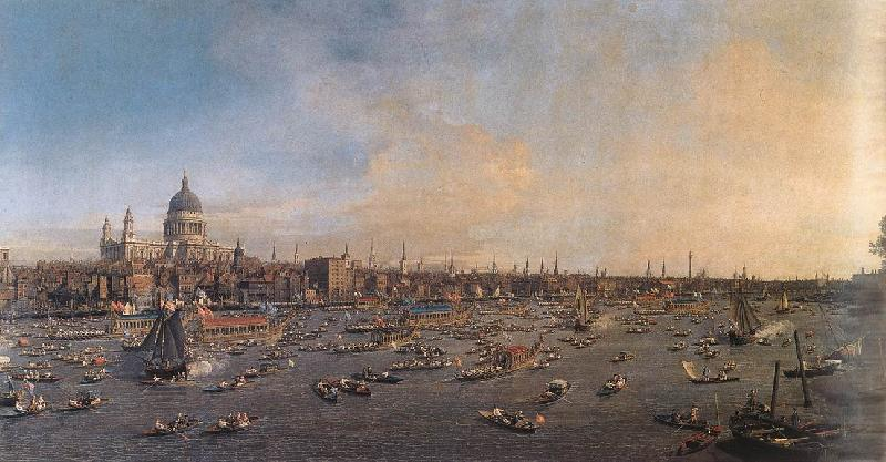 Canaletto The Thames and the City fcf oil painting image