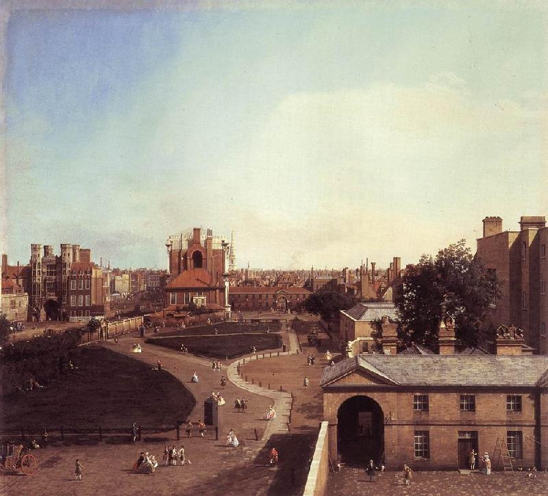 Canaletto London: Whitehall and the Privy Garden from Richmond House f Sweden oil painting art