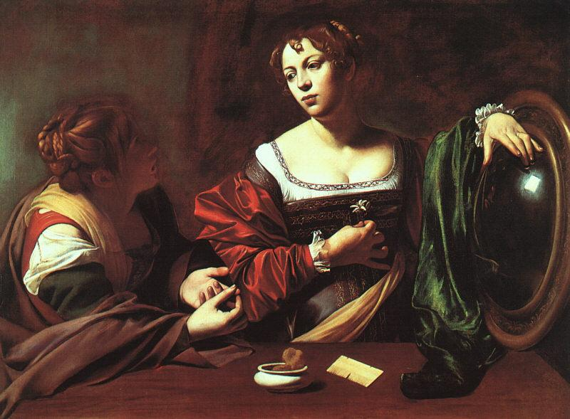 Caravaggio Martha and Mary Magdalene oil painting image