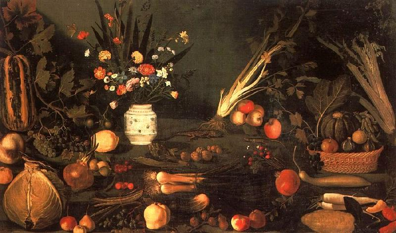 Caravaggio Still Life with Flowers Fruit oil painting image