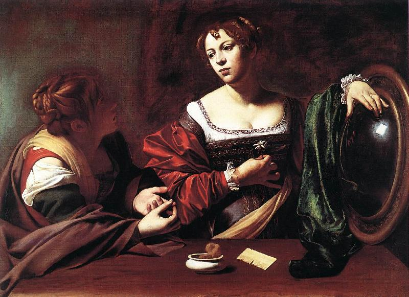 Caravaggio Martha and Mary Magdalene gg Sweden oil painting art