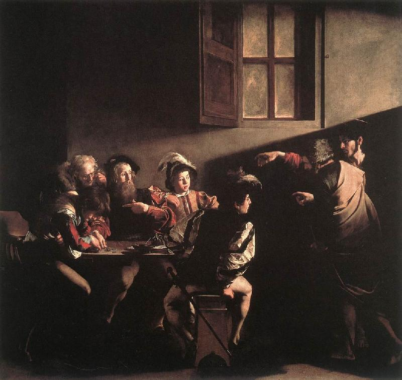 Caravaggio The Calling of Saint Matthew fg Sweden oil painting art