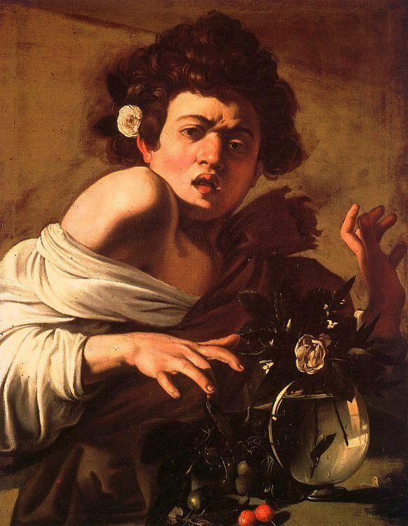 Caravaggio Youth Bitten by a Green Lizard oil painting image