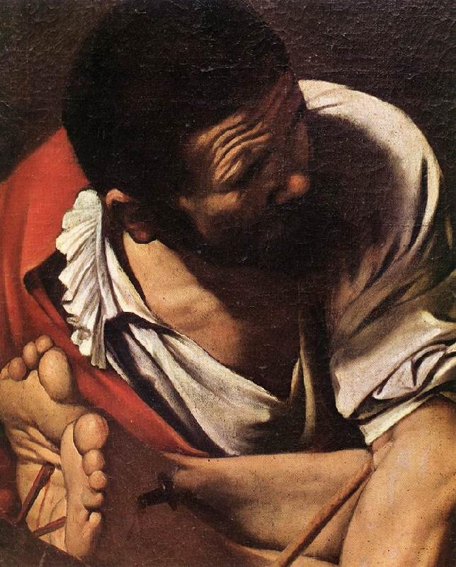 Caravaggio The Crucifixion of Saint Peter (detail) fdg Sweden oil painting art