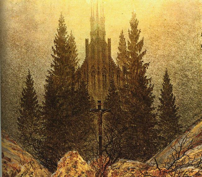 Caspar David Friedrich The Cross on the Mountain oil painting image