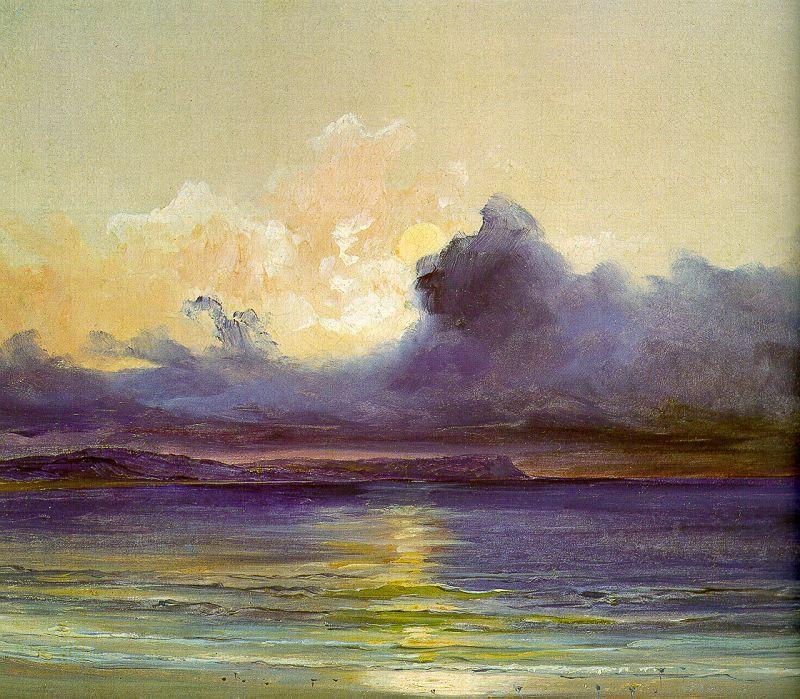 Charles Blechen Sunset at Sea oil painting image