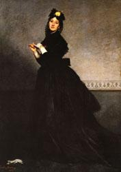 Charles Carolus - Duran Lady with a Glove ( Mme, Carolus - Duran ). oil painting image