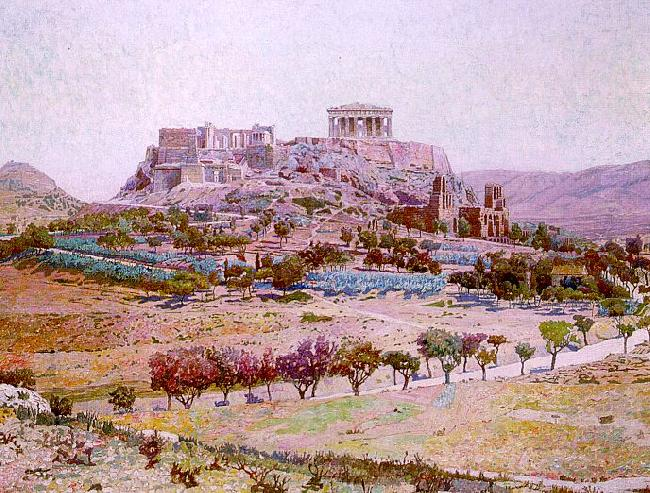 Charles Gifford Dyer Acropolis Sweden oil painting art