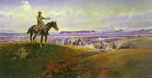 Charles M Russell Sun Worship in Montana Sweden oil painting art