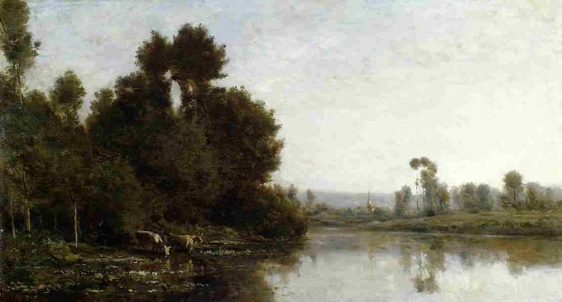 Charles-Francois Daubigny The Banks of River oil painting image
