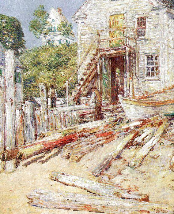 Childe Hassam Rigger's Shop at Provincetown, Mass Sweden oil painting art