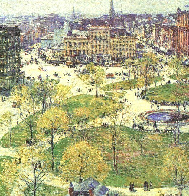 Childe Hassam Union Square in Spring Sweden oil painting art