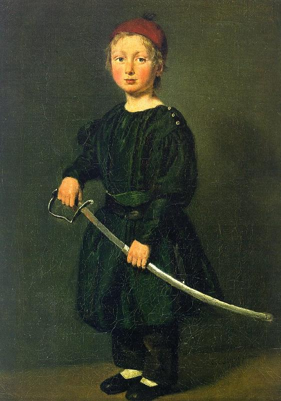 Christian Albrecht Jensen Portrait of a Boy : One of the Artist's Sons oil painting image