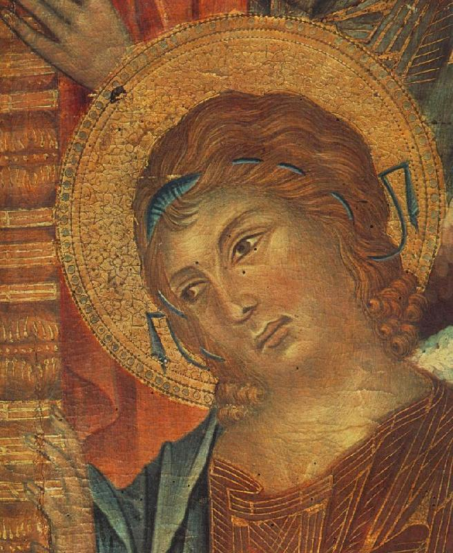 Cimabue The Madonna in Majesty (detail) dfg Sweden oil painting art