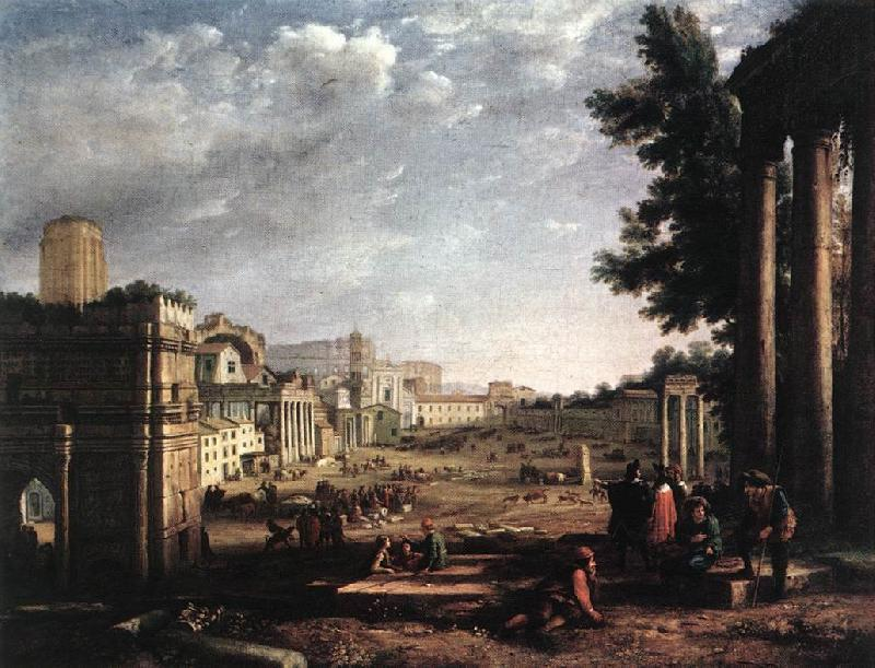Claude Lorrain The Campo Vaccino, Rome dfg oil painting image