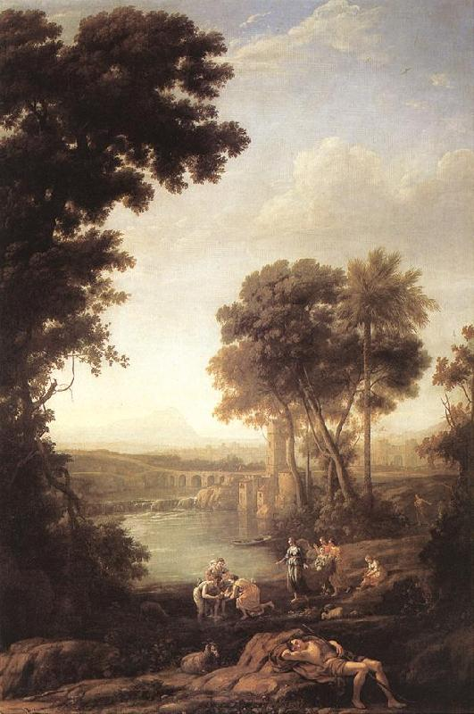 Claude Lorrain Landscape with the Finding of Moses sdfg oil painting image