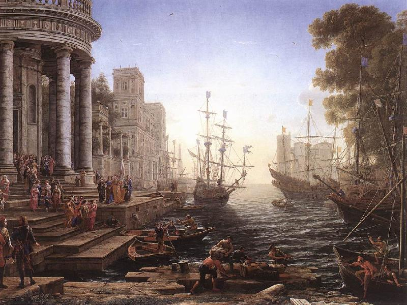 Claude Lorrain Port Scene with the Embarkation of St Ursula fgh Sweden oil painting art