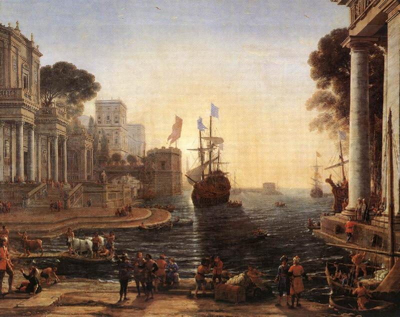 Claude Lorrain Ulysses Returns Chryseis to her Father vgh oil painting image