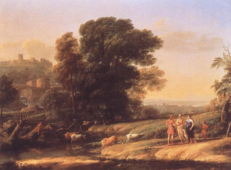 Claude Lorrain Landscape with Cephalus and Procris Reunited by Diana sdf Sweden oil painting art