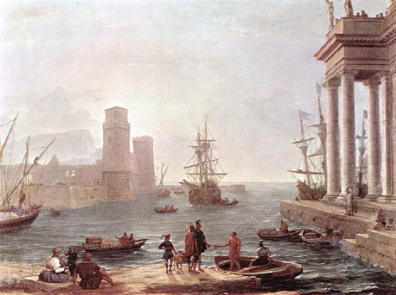 Claude Lorrain Port Scene with the Departure of Ulysses from the Land of the Feaci fdg oil painting image