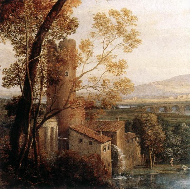 Claude Lorrain Landscape with Dancing Figures (detail) dfg Sweden oil painting art