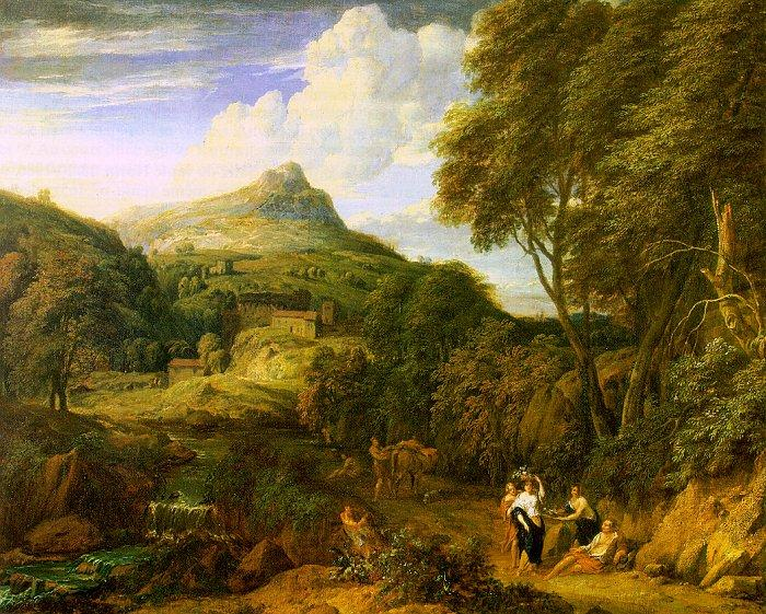 Corneille Huysmans Mountainous Landscape oil painting image