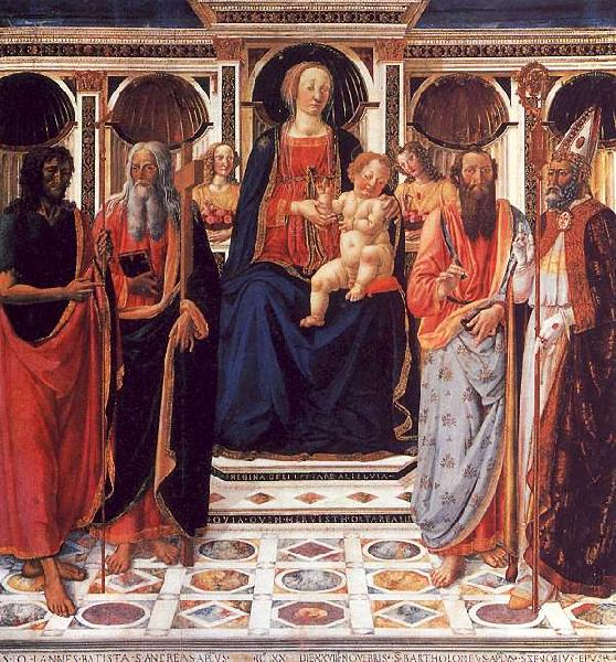 Cosimo Rosselli The Virgin and Child Enthroned with Saints Sweden oil painting art