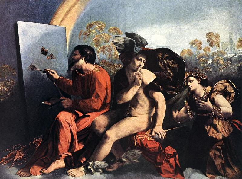 DOSSI, Dosso Jupiter, Mercury and the Virtue df oil painting image