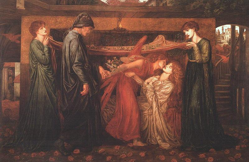 Dante Gabriel Rossetti Dante's Dream at the Time of the Death of Beatrice Sweden oil painting art